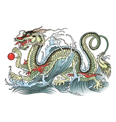 Water dragon vector image