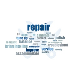 Repair words vector