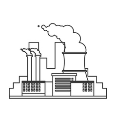 Nuclear plant icon vector