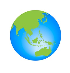 World globe editable vector