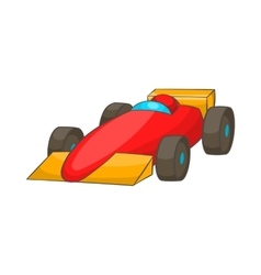 Race car icon cartoon style vector