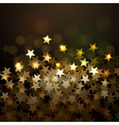 Golden christmas background with stars eps10 vector