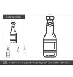 Soda bottle line icon vector image