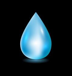 water drop clean water drop vector image