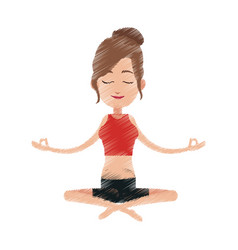 Yogi meditating icon image vector