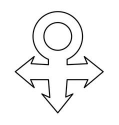 Venus gender symbol icon image vector