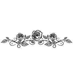 Rose leaves flower vector image