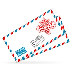 Christmas mail vector