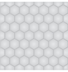 Hexagon geometric seamless pattern vector