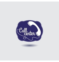 Call center icon with phone vector