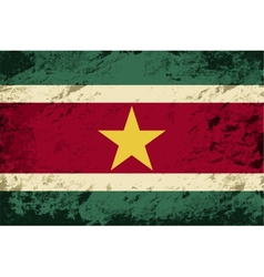 Surinamese flag grunge background vector