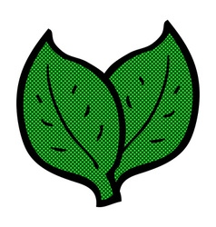 Comic cartoon leaf vector