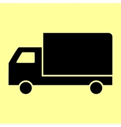 Delivery sign flat style icon vector