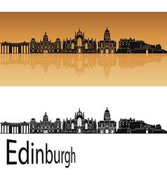Edinburgh skyline in orange vector