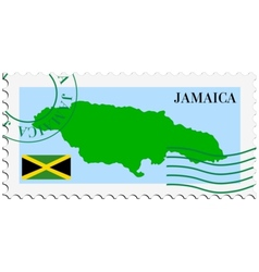 Mail to-from jamaica vector