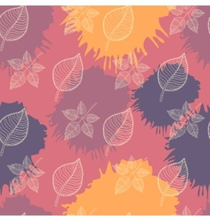 Autumn seamless patternabstract leaf vector image vector image