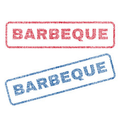 barbeque textile stamps vector image