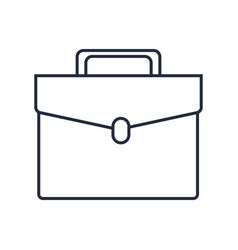 Briefcase portfolio business elegant accessory vector