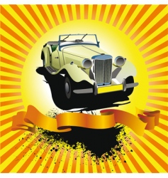 Car club poster vector