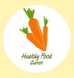carrot healthy food concept vector image vector image