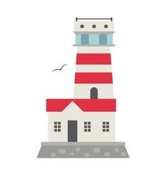 cartoon flat lighthouses vector image vector image