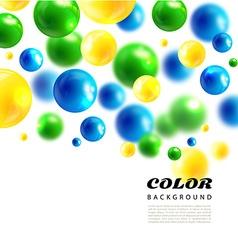 Colors molecules background3d molecule vector