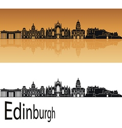 Edinburgh skyline in orange vector