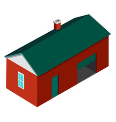 farmer house building isolated on white background vector image