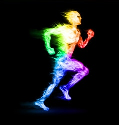 Fiery running man vector image vector image