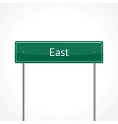 Green east traffic sign vector image vector image