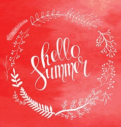 Hello summer card in vector