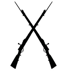 Historical military rifles vector