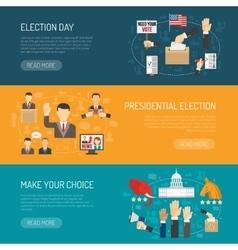 Horizontal Election Banner vector image