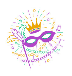 Icon mardi gras mask vector