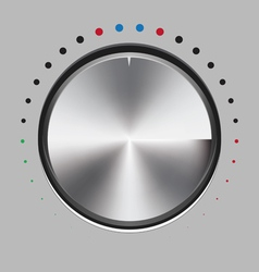 metal button vector image