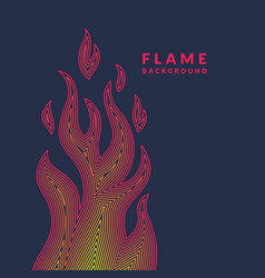 Modern poster with the flame from lines in vector