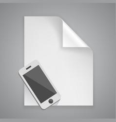 paper symbol phone vector image vector image