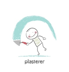 Plasterer works vector