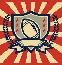 retro american football sport emblem vector image