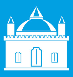Royal castle icon white vector