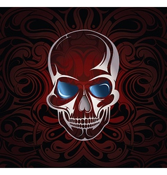 Stylised skull vector image