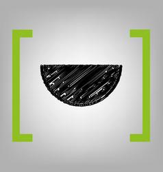 watermelon sign black scribble icon in vector image