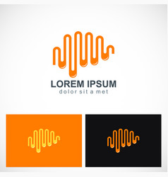 wave longitudinal abstract logo vector image