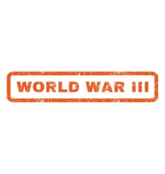 World war iii rubber stamp vector