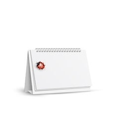 Blank spiral table calendars with ladybug vector