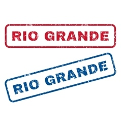 Rio grande rubber stamps vector