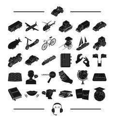 Library education technology and other web icon vector