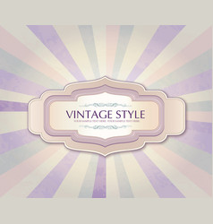 Vintage frame over retro textured background vector