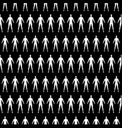 seamless pattern with human silhouette vector image