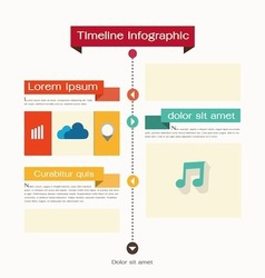 Timeline web element template vector